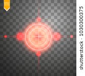 neon red target isolated. game...