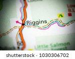 Riggins. Idaho. USA on a map.
