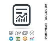 report file icon. document page ... | Shutterstock .eps vector #1030307185