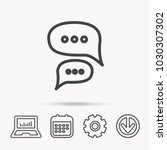 chat icon. comment message sign.... | Shutterstock .eps vector #1030307302