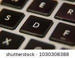d keyboard key button press... | Shutterstock . vector #1030308388