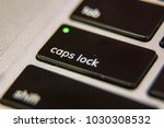 caps lock on keyboard key... | Shutterstock . vector #1030308532