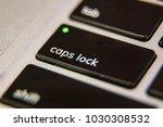 caps lock on keyboard key... | Shutterstock . vector #1030308532