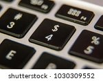 four 4 number dollar sign... | Shutterstock . vector #1030309552