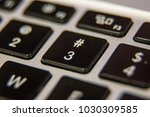 three 3 hashtag octothorp... | Shutterstock . vector #1030309585