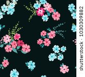 seamless pattern in small... | Shutterstock . vector #1030309882