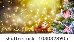 christmas and new year holiday... | Shutterstock . vector #1030328905