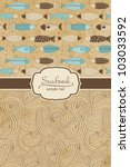 seafood menu | Shutterstock .eps vector #103033592
