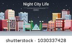 night city life webpage poster... | Shutterstock .eps vector #1030337428