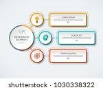 infographic flow chart. modern... | Shutterstock .eps vector #1030338322