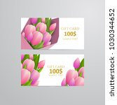 vector gift voucher template... | Shutterstock .eps vector #1030344652