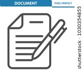 document icon. professional ... | Shutterstock .eps vector #1030354855