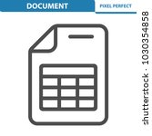 document icon. professional ... | Shutterstock .eps vector #1030354858
