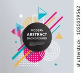 modern abstract vector circle... | Shutterstock .eps vector #1030359562