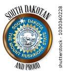 south dakota state flag button... | Shutterstock . vector #1030360228