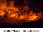 fiery shots of the active lava... | Shutterstock . vector #1030364848