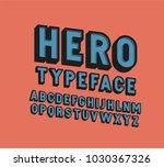 3d hero retro vector font... | Shutterstock .eps vector #1030367326