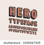 3d hero retro vector font... | Shutterstock .eps vector #1030367335