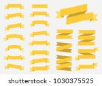 vector ribbons banners isolated ... | Shutterstock .eps vector #1030375525