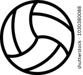 volleyball ball icon | Shutterstock .eps vector #1030380088