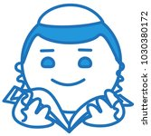 emoji with young jewish boy... | Shutterstock .eps vector #1030380172