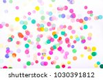 Confetti On White Background....