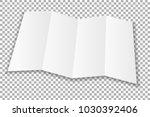 blank folded leaflet white... | Shutterstock .eps vector #1030392406