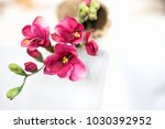 decoration with red cloth... | Shutterstock . vector #1030392952