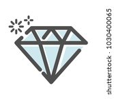 diamond jewel symbol icon | Shutterstock .eps vector #1030400065