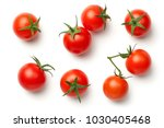 cherry tomatoes isolated on... | Shutterstock . vector #1030405468