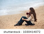 beautiful brunette woman...   Shutterstock . vector #1030414072