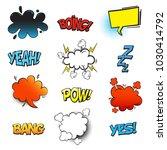 bubble comic speeches for... | Shutterstock .eps vector #1030414792