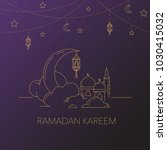 ramadan kareem background with... | Shutterstock .eps vector #1030415032