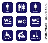 Wc Toilet Sign Door Plate Icon...