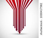 vector arrow made of red shape... | Shutterstock .eps vector #1030417582