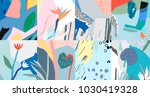 creative art header with... | Shutterstock .eps vector #1030419328