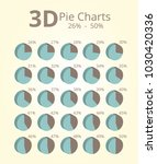 3d pie chart 26 50 | Shutterstock .eps vector #1030420336