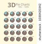 3d pie chart 76 100 | Shutterstock .eps vector #1030420342