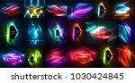 neon glowing light abstract... | Shutterstock .eps vector #1030424845
