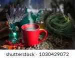 herbal tea from the viburnum... | Shutterstock . vector #1030429072