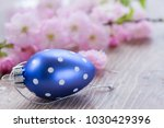 easter egg with flowers | Shutterstock . vector #1030429396