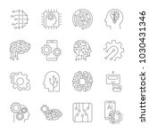 set of thin icons related to... | Shutterstock .eps vector #1030431346