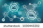 industry 4.0   smart factory  ... | Shutterstock .eps vector #1030443202