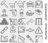set of thin linear icons... | Shutterstock .eps vector #1030443592