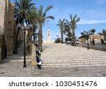 center square in old city jaffa ... | Shutterstock . vector #1030451476