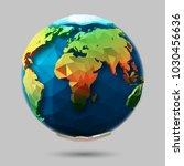 vector polygonal earth icon.... | Shutterstock .eps vector #1030456636