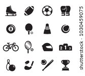 sports icons set | Shutterstock .eps vector #1030459075