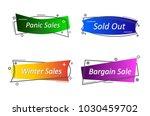 flat linear promotion ribbon...   Shutterstock .eps vector #1030459702