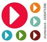 arrow icons circle set vector... | Shutterstock .eps vector #1030471588