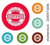 certified logo. simple... | Shutterstock .eps vector #1030471606
